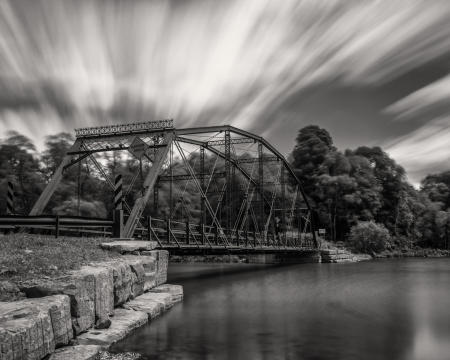 Upper Lisle Bridge, Windy Afternoon